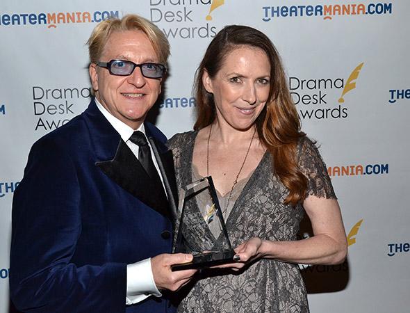 Чет Уолкер и Джипси Снайдер на вручении премии Drama Desk Awards